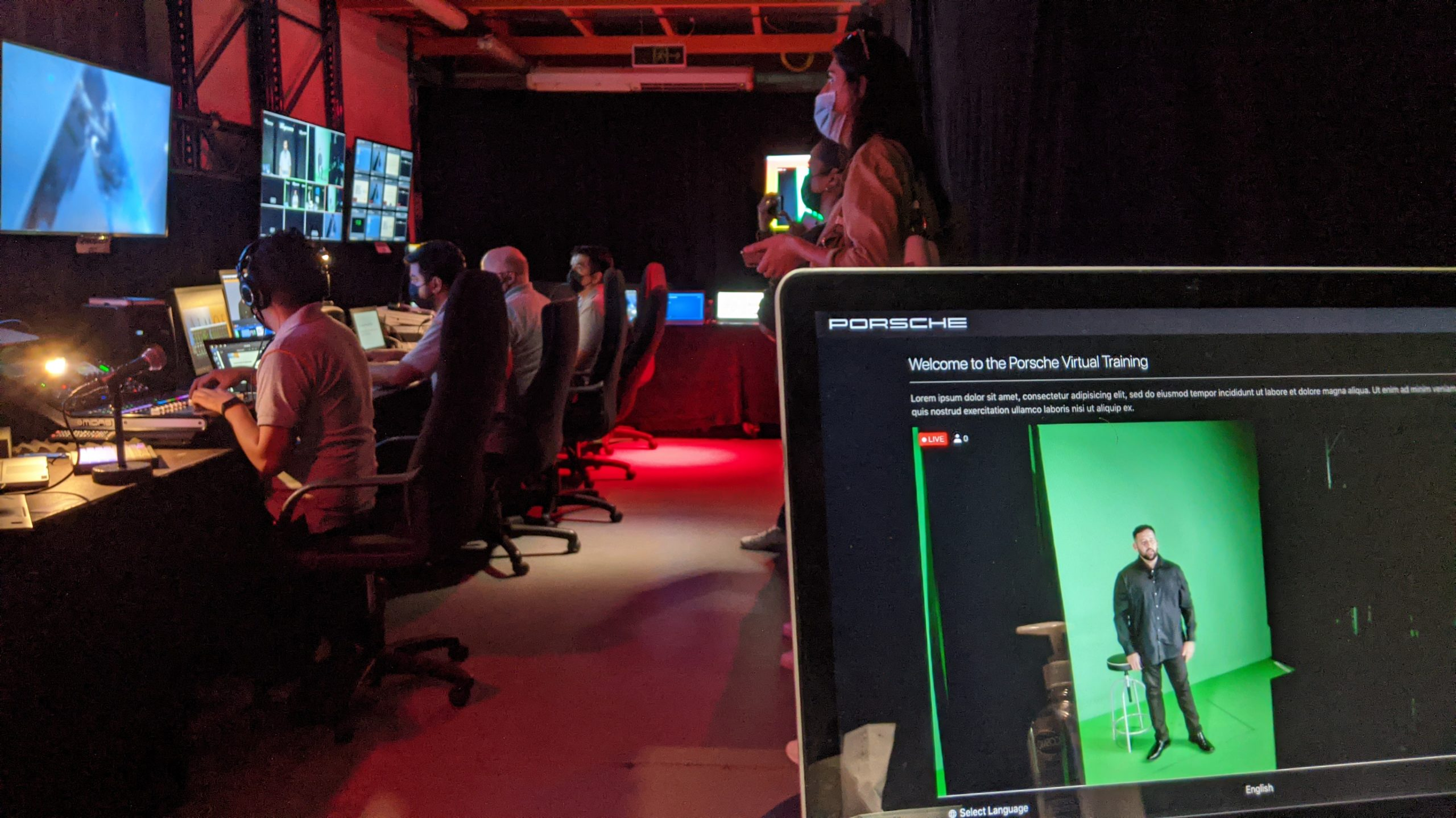 VIRTUAL EVENT & CONFERENCE PLATFORM Studio behind the scenes