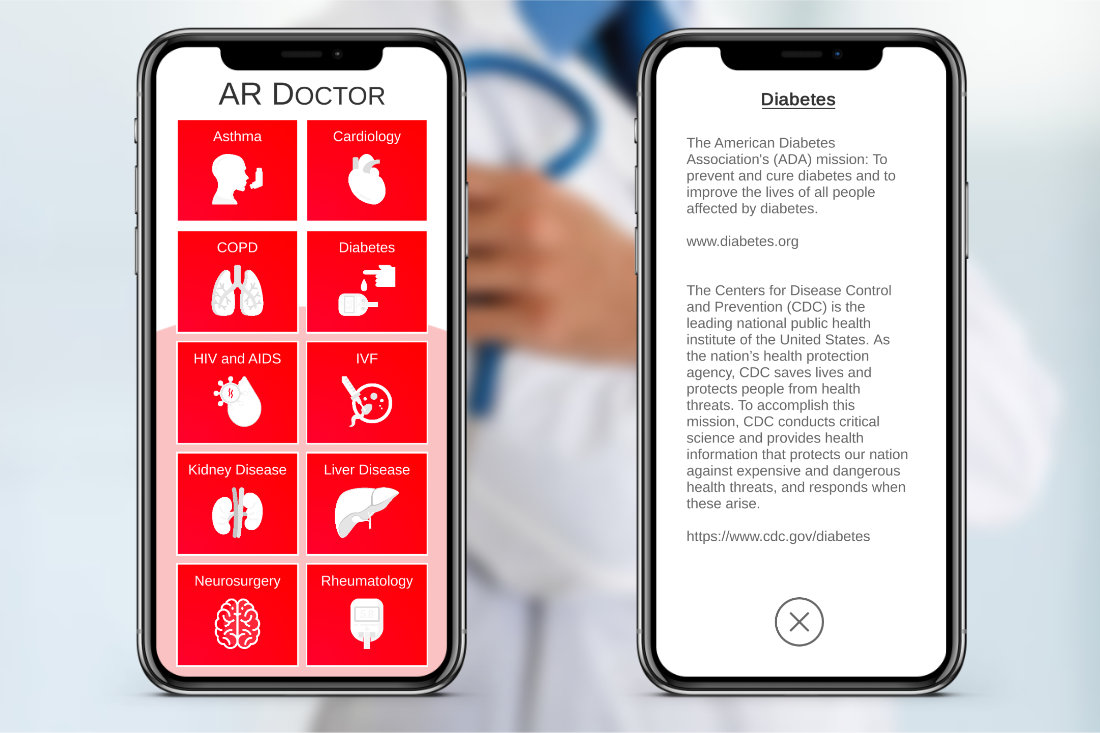 AUGMENTED REALITY DOCTOR – MOBILE INFORMATION APP AR Doctor