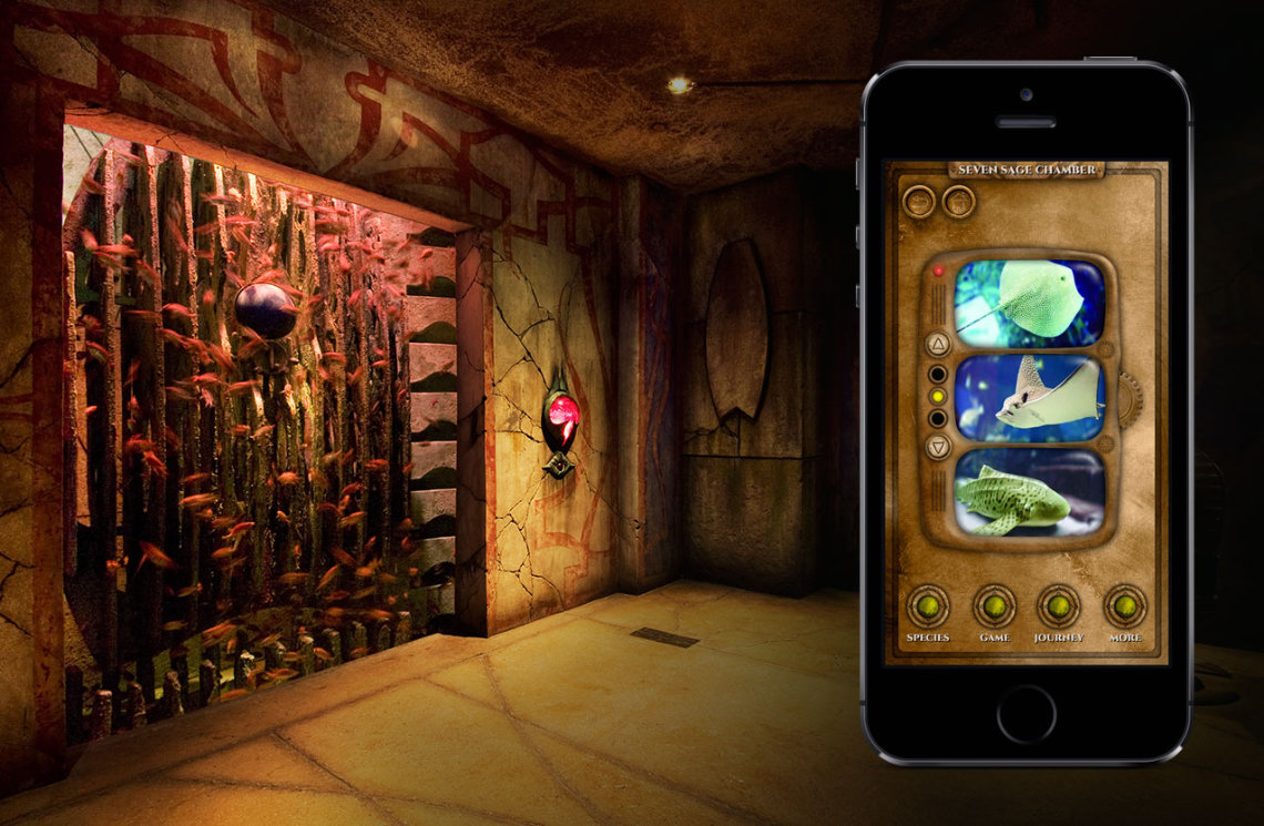 virtual museum guide with beacon technology at the palm atlantis
