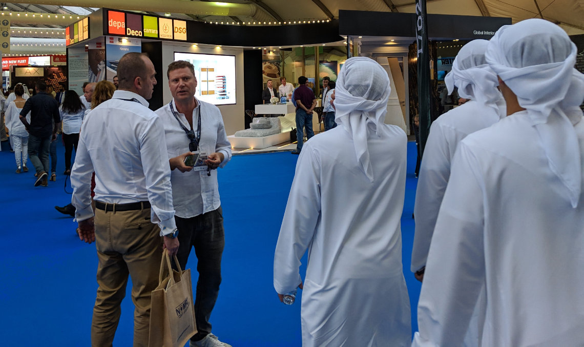 dubai boat show augmented reality mobile application