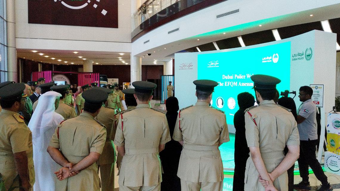 dubai police interactive gesture technology installation