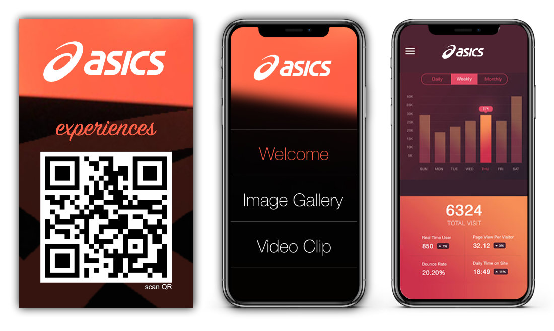 INTERACTIVE & CONTACTLESS MEDIA STATION asics mobile app