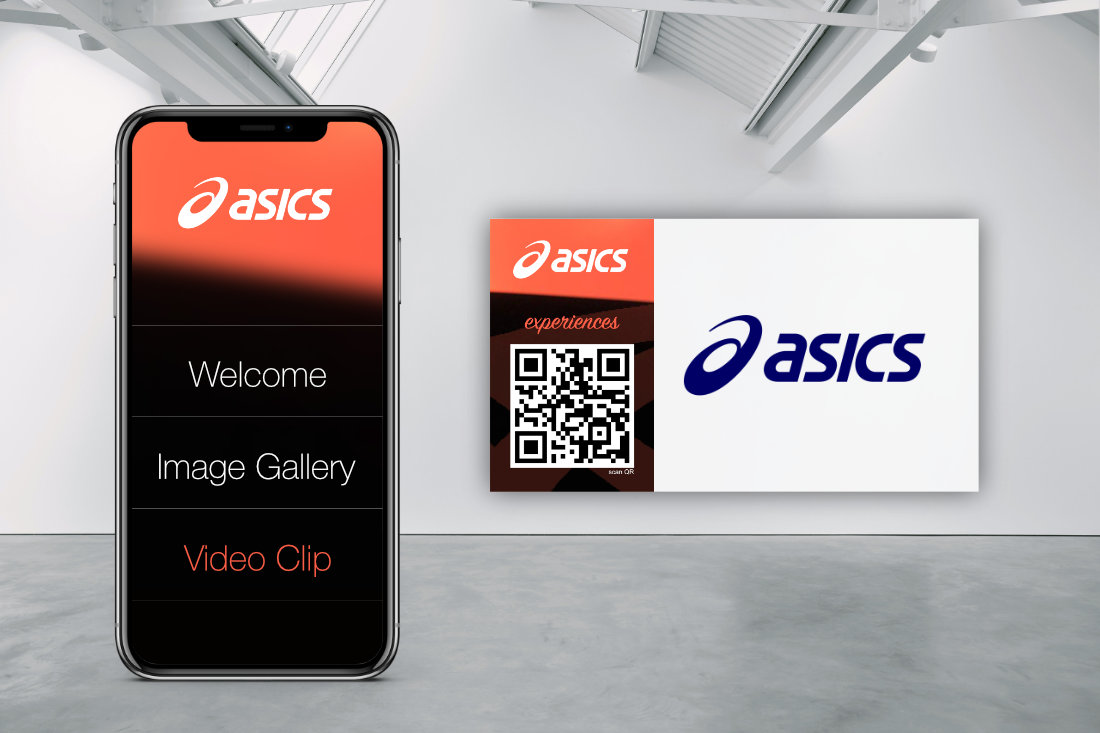 INTERACTIVE & CONTACTLESS MEDIA STATION asics