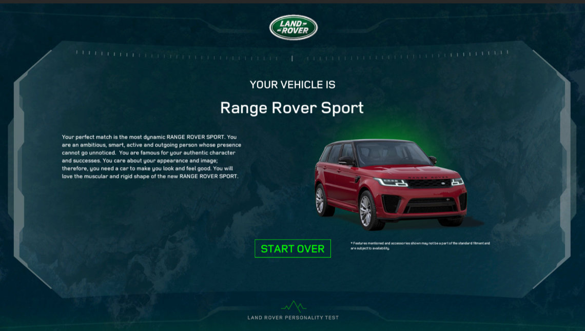 jaguar and land rover roadshow touch screen app