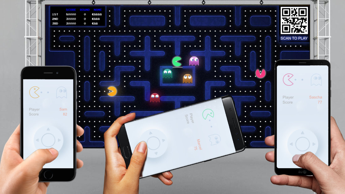 CONTACTLESS MULTIPLAYER ARCADE GAMES pac man