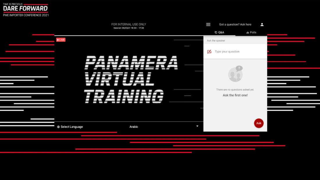 porsche panamera importers conference live stream
