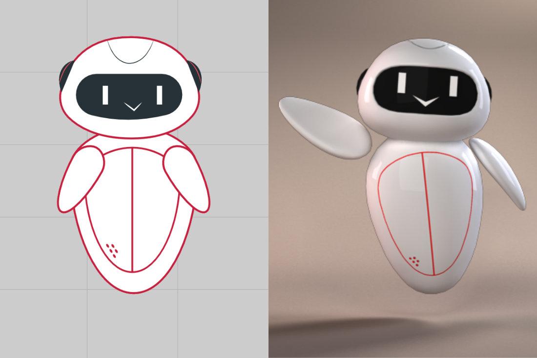 WEB AUGMENTED REALITY – DOCTORS ONLINE PLATFORM robot render process