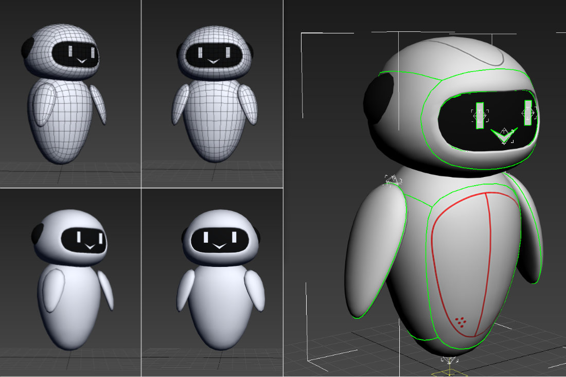 WEB AUGMENTED REALITY – DOCTORS ONLINE PLATFORM robot 3d model development