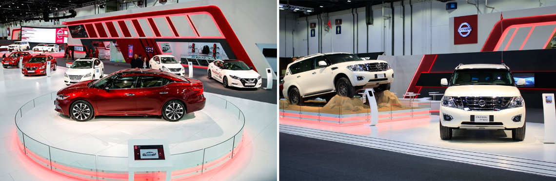 Nissan Dubai Auto Motor Show - interactive gesture based technology game 2