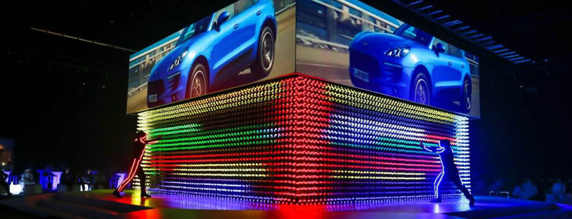 Porsche Macan Launch Event - interactive LED show costumes 2