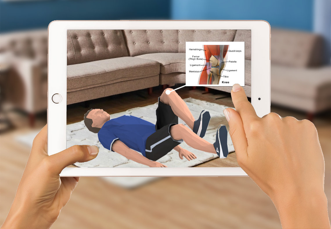 Augmented Reality Example for Physiotherapist